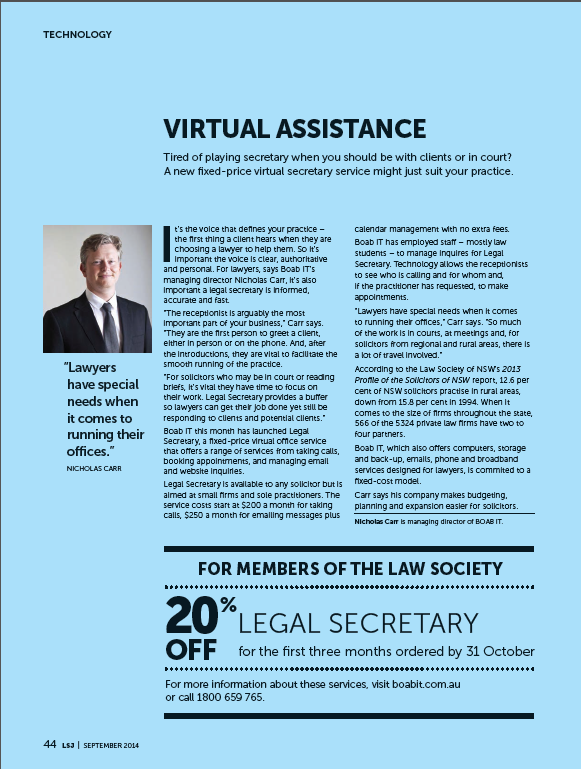 Law Society Journal Nicholas Carr
